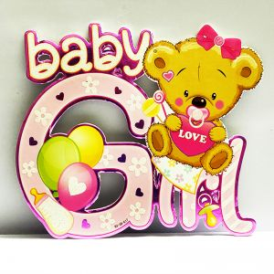 Baby Girl Sunboard Hanging Decoration - Model 1003