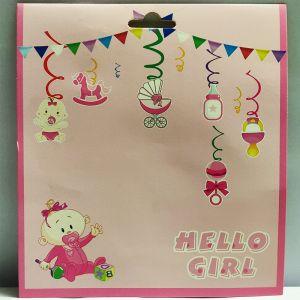 Baby Girl Swirls - Set of 12
