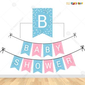 Baby Shower Banner - Blue & Pink