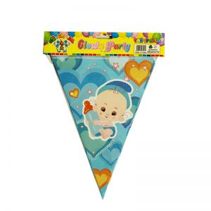 Baby Shower Blue Flag Banner