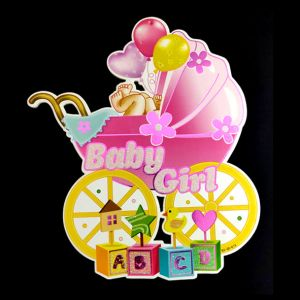 Baby Shower Decoration Postures - Pink