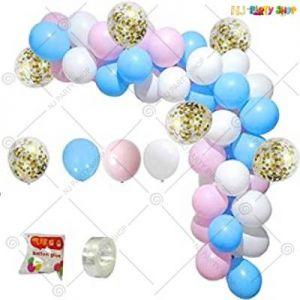 Balloon Arch Decoration Garland Kit - Blue & Pink - Set Of 82