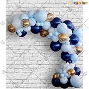 Balloon Arch Decoration Garland Kit -  Dark Blue & Light Blue - Set Of 62
