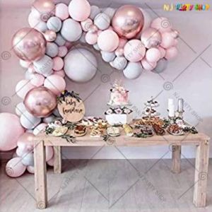 Balloon Arch Decoration Garland Kit - Rose Gold  & Pink - Set Of 62