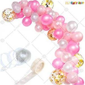 Balloon Arch Decoration Garland Kit -Pink & White - Set Of 57