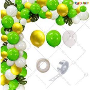 Balloon Arch Decoration Garland Kit -Yellow & Green - Set Of 77