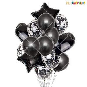 Balloon Combo - Black - Set Of 14