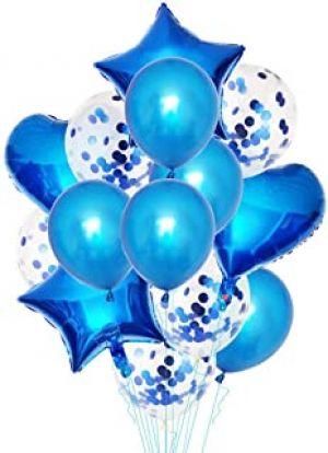 Balloon Combo - Blue - Set Of 14