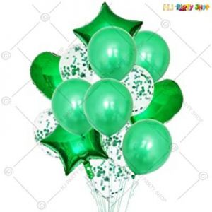 Balloon Combo - Green - Set Of 14