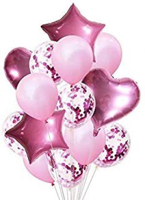 Balloon Combo - Pink - Set Of 14