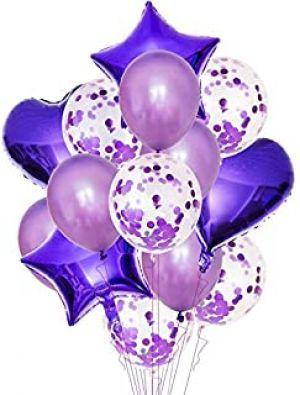 Balloon Combo -  Purple - Set of 14