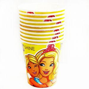 Barbie Theme Paper Cups - Set of 10