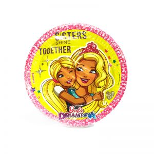 Barbie Theme Paper Plates - Set of 10