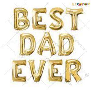 Best Dad Ever Foil Balloon Banner