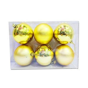 Big Golden Balls With Design - Christmas Tree Decoration Ornaments - Model Y7