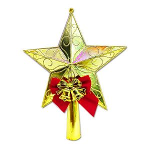 Big Golden Tree Top Star With Bells - Model X2