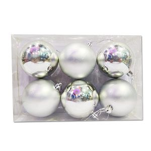 Big Silver Balls - Christmas Tree Decoration Ornaments - Model Y7
