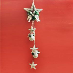 Big Silver Star Hanging - Xmas Decorations
