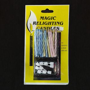 Birthday Cake -  Magic Relighting Candles - Set of 10