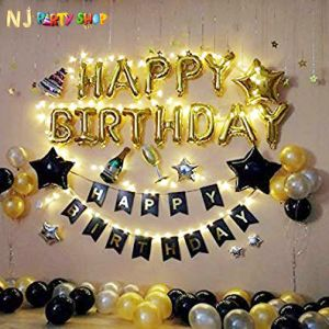 013A Model - Birthday Decoration Combo Kit - Black & Golden