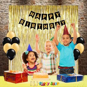 016A Model - Birthday Decoration Combo Kit -  Black & Golden