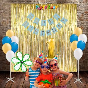 1112A Model - 1st Birthday Decoration Combo Kit -  Blue & Golden