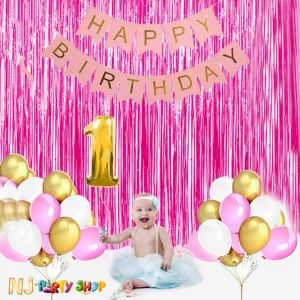 019A Model - Birthday Decoration Combo Kit - Pink
