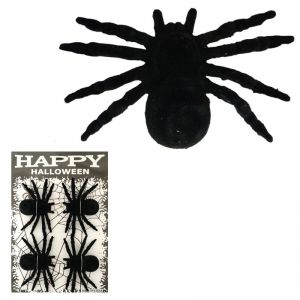 Black Spiders Big - Set of 4