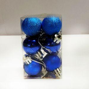 Blue Balls Hanging Ornaments - Small