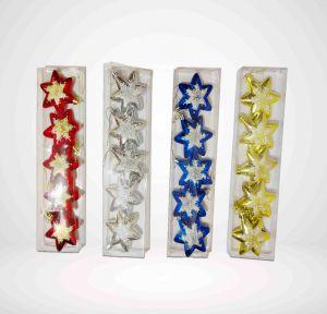 Blue Stars Christmas Tree Decoration Ornaments - Model 11YX