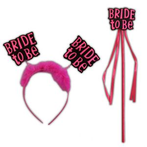 Bride To Be Hairband With Wand