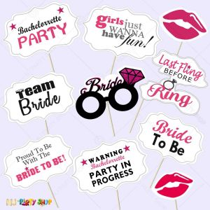 Bride To Be Photo Booth Props - Bachelorette Party  Decorations - Model Y2