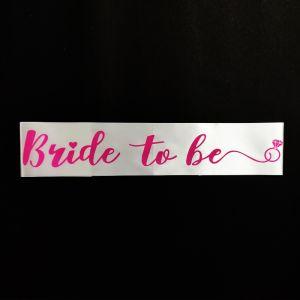 Bride To be Sash - White & Pink
