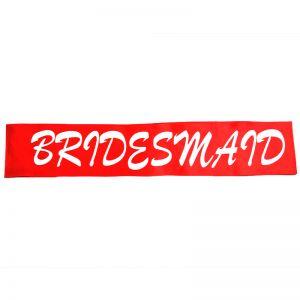 Bridesmaid Sash - Red