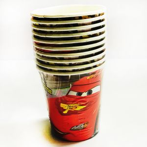 Car Theme Paper Cups - Set of 10