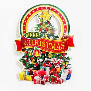 Christmas Big Paper Posture/Sticker - Xmas Decoration - Model 15XY