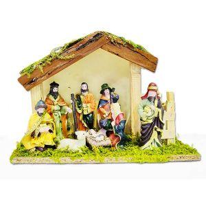 Christmas Crib Set With Statues - Medium
