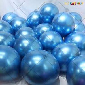 Chrome Balloon - Blue - Set Of 25