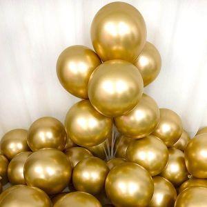 Chrome Balloon - Golden - Set Of 25