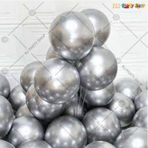 Chrome Balloon - Silver - Set Of 25