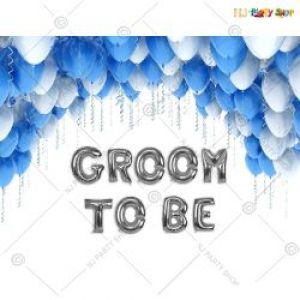 Groom To Be Decoration Combo - Blue & White - Set Of 30