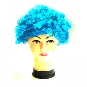 Curly Clown Afro Malinga Wig - Blue Colour