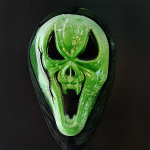 Dracula Teeth Scarry Horror Mask for Halloween - Green Color