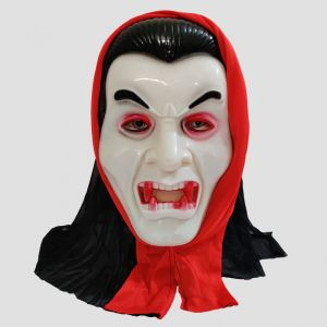 Dracula With Hoodie Halloween Mask - White