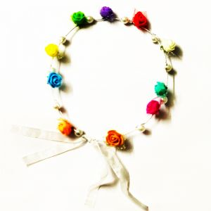 Flower and Pearl Tiara - Multi