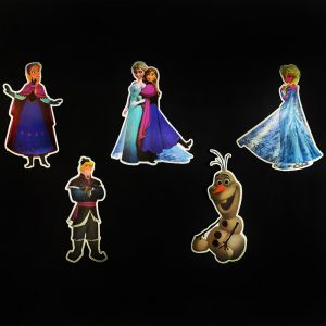 Frozen Theme Cutouts/Stickers Decoration - Set of 5 - 1FT Height