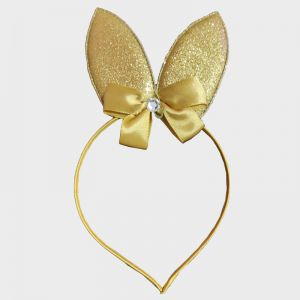 Glitter Bunny Hair Band - Golden
