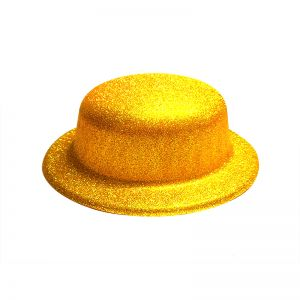 Glitter Party Hats - Golden