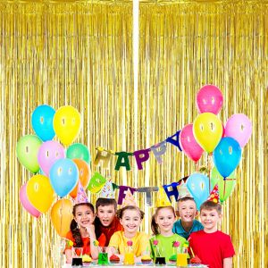 Gold Foil Curtain Party Decoration