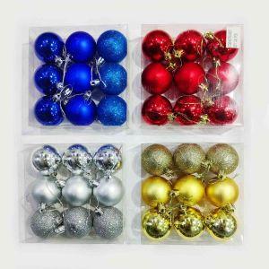 Golden Balls Christmas Tree Decoration Ornaments - Model 1001XY - Set of 9